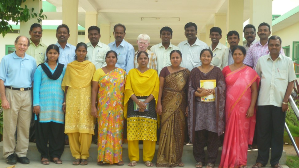 Stephen Blosser with his team in Bobbili, India.